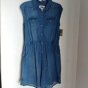 NWT LEVI'S GIRL'S WESTERN SHIRT DRESS